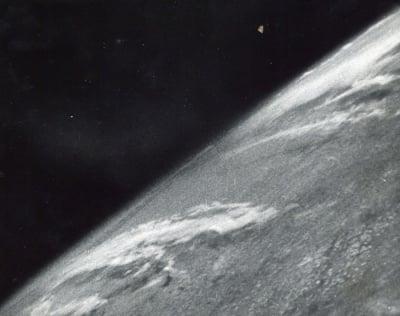 Първата снимка на открития Космос - 26 октомври, 1946 година