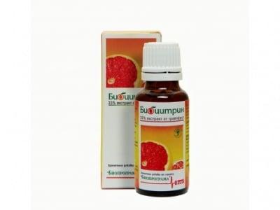БИОЦИТРИН - ефикасно средство срещу вируси, гъбички, паразити, бактерии и плесени - флакон х 30 мл., БИОПРОГРАМА
