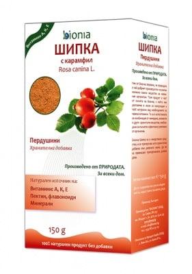 ШИПКА С КАРАМФИЛ - действа благоприятно на отделителната система - 150 гр.