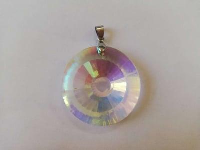 Многоцветен слънчев кристал - кръгъл