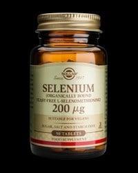 СЕЛЕН 200 мкг. за нормалното функциониране на щитовидната жлеза * 50табл., СОЛГАР
