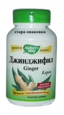 ДЖИНДЖИФИЛ - стимулира храносмилането - капсули 550 мг. х 100, NATURE'S WAY