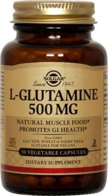 L - ГЛУТАМИН 500 мг. главен източник на енергия за мозъка* 50капс.,  СОЛГАР