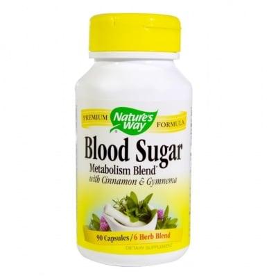 КРЪВНА ЗАХАР - изгаря мазнините и регулира нивата на кръвната захар - капсули 420 мг. х 90, NATURE'S WAY