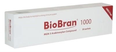 БИОБРАН САШЕТА - стимулира имунната система и редуцира туморните образования - 1000 мг. х 30 сашета