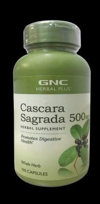 КАСКАРА САГРАДА - тонизира червата и мускулатурата - капсули 500 мг. х 100, GNC