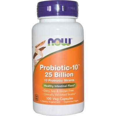 ПРОБИОТИК 10 - 25 БИЛИОНА здравословни бактерии * 100капсули, НАУ ФУДС