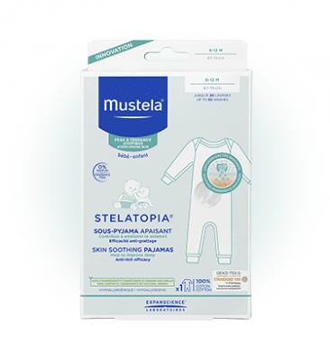Успокояваща пижамка за бебета 100% памучни нишки - 12 месеца, МУСТЕЛА