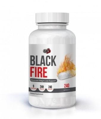 БЛЕК ФАЙАР - мощна термогенна формула за изгаряне на мазнини * 240капсули, ПЮР НУТРИШЪН