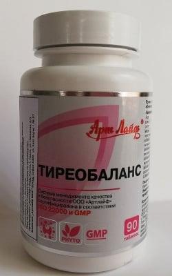 ТИРЕОБАЛАНС -  Комплекс за подкрепа на функциите на щитовидната жлеза - 90 табл., Арт Лайф