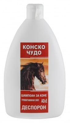 ШАМПОАН КОНСКО ЧУДО - при косопад и изтощена коса, с Деспорон и 3 вида масла, 500 мл.