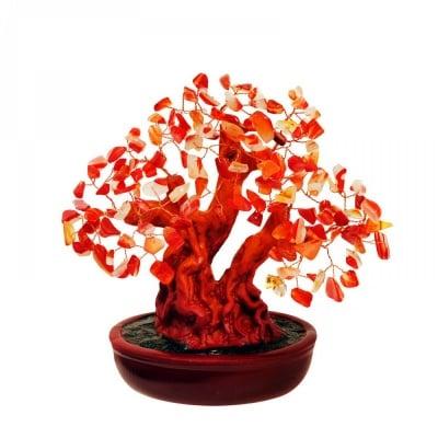 Дърво на Щастието с камъчета - КАРНЕОЛ