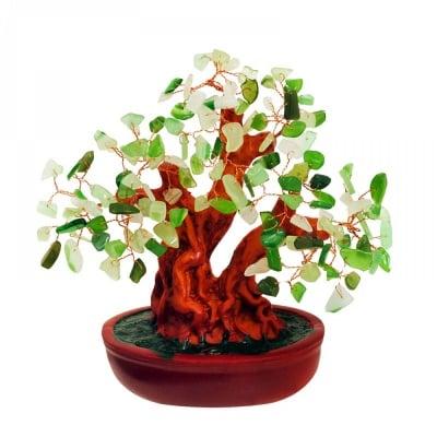 Дърво на Щастието с камъчета- НЕФРИТ
