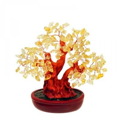 Дърво на Щастието с камъчета - ЦИТРИН