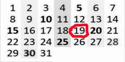 Какво е да си роден на 19-то число от месеца?