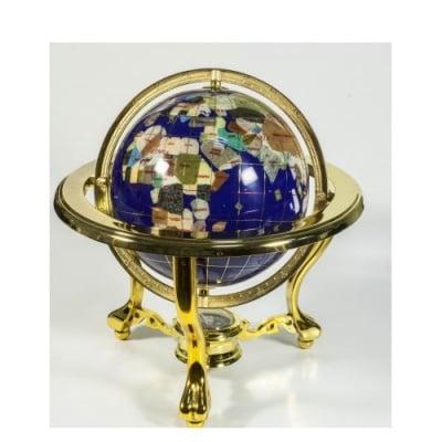 Глобус от полускъпоценни минерали - Модел 9