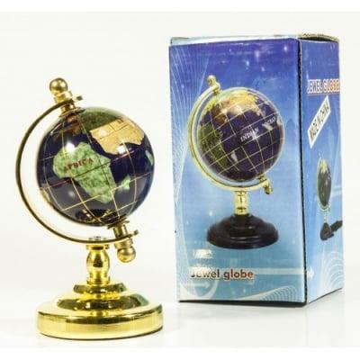 Глобус от полускъпоценни минерали - Модел 1