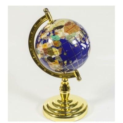 Глобус от полускъпоценни минерали - Модел 7