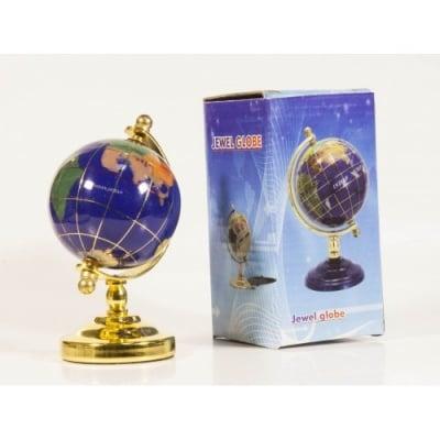 Глобус от полускъпоценни минерали - Модел 2