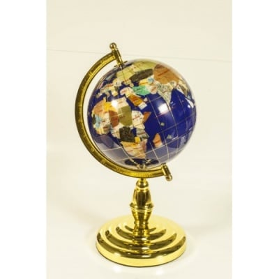 Глобус от полускъпоценни минерали - Модел 8