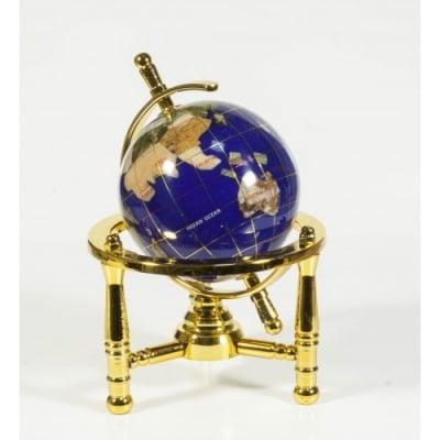 Глобус от полускъпоценни минерали - Модел 4