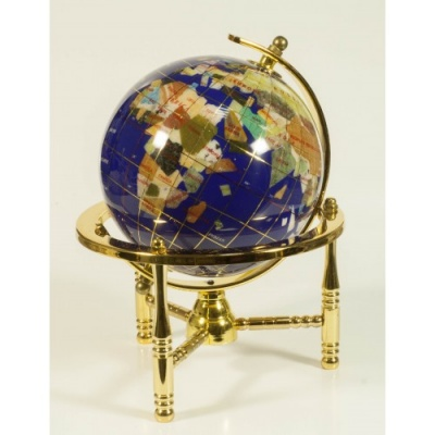 Глобус от полускъпоценни минерали - Модел 5