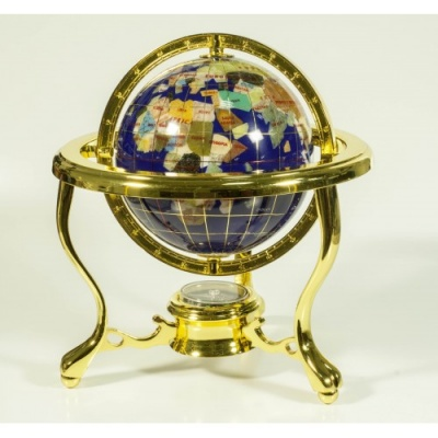 Глобус от полускъпоценни минерали - Модел 6