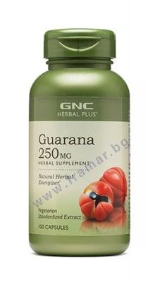 ГУАРАНА капсули 250 мг. * 100 GNC