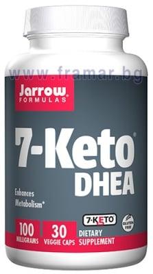 ДЖАРОУ ФОРМУЛАС 7 - КЕТО DHEA капсули 100 мг * 30