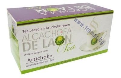 АЛКАЧОФА ДЕ ЛАОН - Чай с екстракт от Артишок *30 пакетчета, ТЕЛЕСТАР