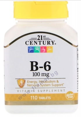21 СЕНЧЪРИ ВИТАМИН B6 таблетки 100 мг * 110