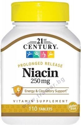 21 СЕНЧЪРИ НИАЦИН таблетки 250 мг * 110