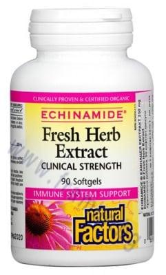 ЕХИНАМИД ЕХИНАЦЕЯ ЕКСТРАТ капсули 250 мг. * 90 НАТУРАЛ ФАКТОРС