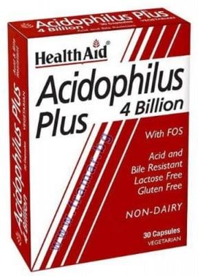 АЦИДОФИЛУС ПЛЮС - при стомашни нарушения или след антибиотична терапия * 30 капсули