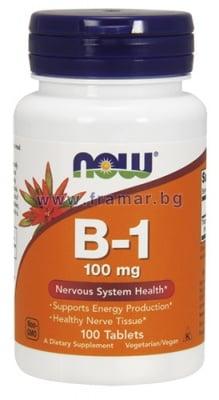 НАУ ФУДС ВИТАМИН Б 1 табл. 100 мг. * 100
