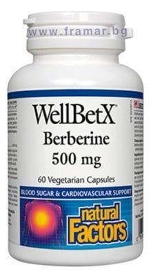 БЕРБЕРИН капсули 500 мг. * 60 НАТУРАЛ ФАКТОРС