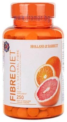 ФИБРОДИЕТА - 100% натурални фибри * 250 таблетки