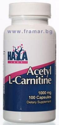 ХАЯ ЛАБС АЦЕТИЛ L - КАРНИТИН капс. 1000 мг. * 100