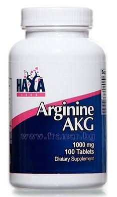 ХАЯ ЛАБС АРГИНИН AKG табл. 1000 мг. * 100