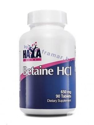 БЕТАИН ХИДРОХЛОРИД табл. 650 мг. * 90