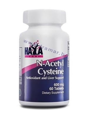 ХАЯ ЛАБС N-АЦЕТИЛ L-ЦИСТЕИН табл. 600 мг. * 60