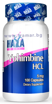 ХАЯ ЛАБС ЙОХИМБИН ХИДРОХЛОРИД капсули 5 мг. * 100
