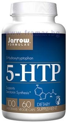 ДЖАРОУ ФОРМУЛАС 5 - ХИДРОКСИТРИПТОФАН (5 - HTP) капсули 100 мг * 60