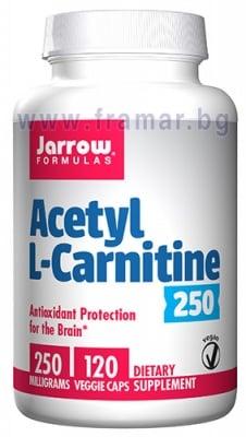 ДЖАРОУ ФОРМУЛАС АЦЕТИЛ L - КАРНИТИН капсули 250 мг * 120