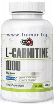ПЮР НУТРИШЪН L - КАРНИТИН капс. 1000 мг. * 60