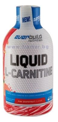 L - КАРНИТИН ТЕЧЕН 1500 мг + ХРОМ + ВИТАМИН Б КОМПЛЕКС с вкус на грейпфрут 450 мл