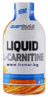 L - КАРНИТИН ТЕЧЕН 1500 мг + ХРОМ + ВИТАМИН Б КОМПЛЕКС с вкус на портокал 450 мл