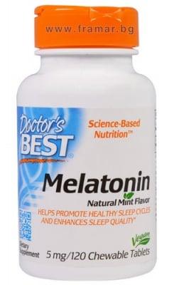 ДОКТОР'С БЕСТ МЕЛАТОНИН дъвчащи таблетки 5 мг. * 120