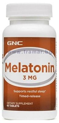 МЕЛАТОНИН  с удължено освобождаване табл. 3 мг. * 60 GNC