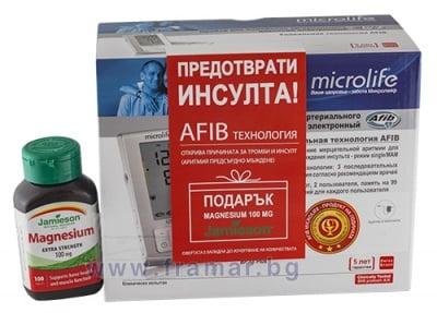 ЕЛЕКТРОНЕН АПАРАТ ЗА ИЗМЕРВАНЕ НА КРЪВНО НАЛЯГАНЕ МИКРОЛАЙФ BP A6 PLUS + ПОДАРЪК ДЖЕЙМИСЪН МАГНЕЗИЙ таблетки 100 мг * 100